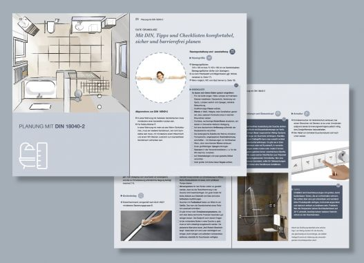 Mit neuem Ratgeber vorausschauend planen: Das moderne Bad: Komfortabel. Sicher. Barrierefrei.