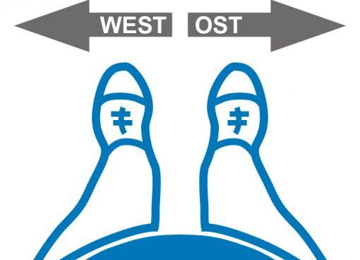 Ost und West im Bad getrennt